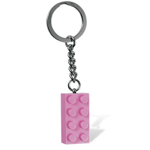 Pink Brick Key Chain