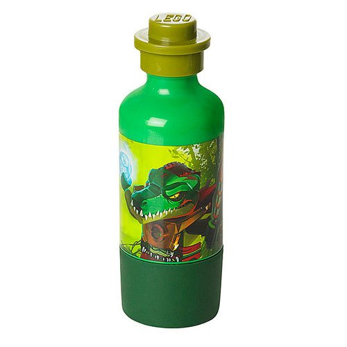 LEGO CHIMA DRINKING BOTTLE - DARK GREEN