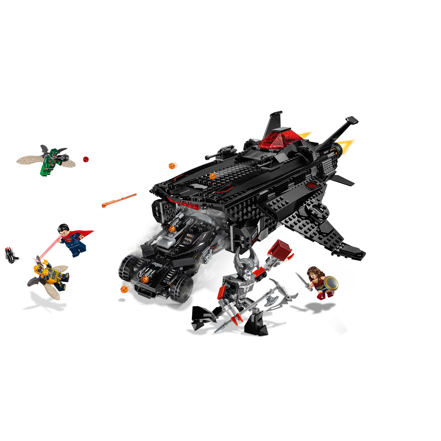 76087 Flying Fox: Zračni napad Batmobilea