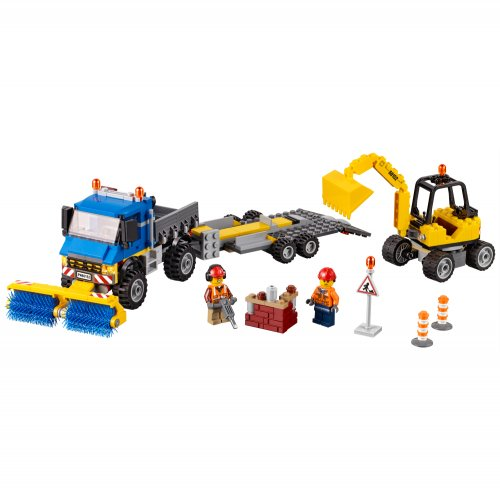 60152 Kamion za čišćenje i bager za iskopavanje