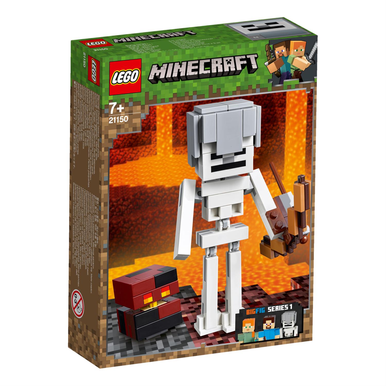 21150 Minecraft™ BigFig Skeleton s kockom magme