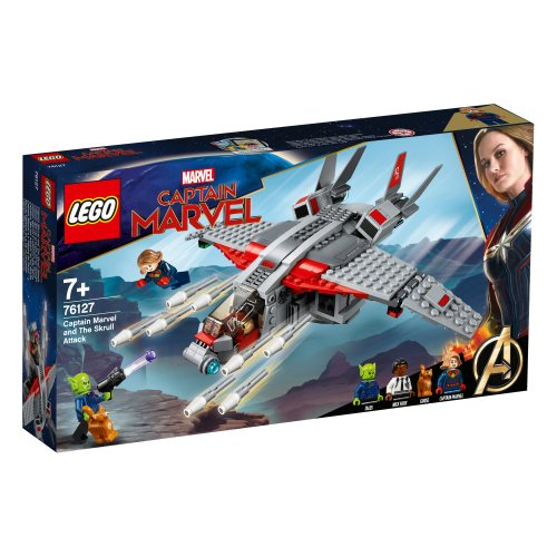 76127 Captain Marvel i napad Skrulla