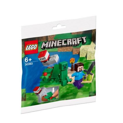 30393 Minecraft komplet Steve i Creeper